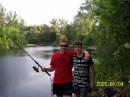 Я с братом на рыбалке::))
