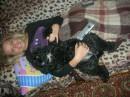 Алёна и собачка!