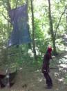 Это парус Жемчужины. Пригодилось мое умение лазания по деревьям...