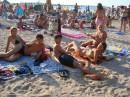 После пенной, на пляжу