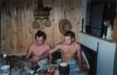 это я с другом после парилочки у меня на даче