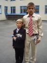 Это я с младшим братом на 1-м сентябре в школе.