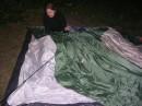 А с кем еще разговаривать в 2 ночи, как не с палаткой))