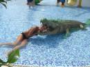 Это тоже в Аквапарке!!!! Только с моим любимым крокодильчиком ;)