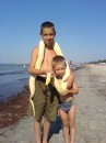 Я  зі  своїм  молодшим  братом!