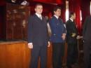 После вручения того самого долгожданного диплома. Ректор О(Г/Н)МА, Декан Факультата Морского Судовождения и я. (Справо налево, разумеется :-)))) )