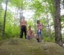 Артур,Серый и Я=)в лесу...