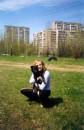 А это я и моя собака. Порода-двортерьер. А точнее просто двоняжка. Моя семья забрала ее, когда она была еще совсем крохой и ее сбила машина