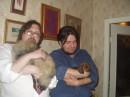 Барбариска со своим другом - таксом... Ну а еще Кислый (в белой рубашке) и Леший (в синем)....