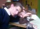 Мы с Валеркой во Львове в классной пицерийке.