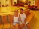 С любимой в холле отеля