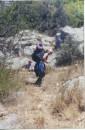 эт чернореченский каньон, близ мыса сарыч.муза вдохновляет туристов. золотые были денечки...