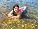 горное озеро с ЛЕДЯНОЙ водой:)