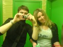 my friend Iraisha and i in a girly WC doing our thing ....;)