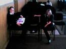 я с Олечкой в школе
