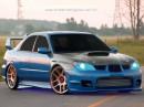 классно нарисовано  (Subaru Impreza WRX STI)