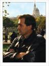 я в Харькове осенью( 6 октября 2004). Благовещенский собор на фоне.