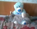 Симка на моём любимом мишке=)