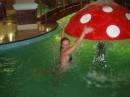 Отдыхали в Риксосе, в Трускавце. Ныряешь в крытом бассейне, а выныриваешь на улице... а там падает снег...