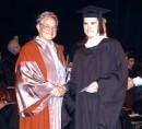 вручение диплома Джорджем Соросом