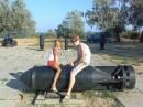 Крым...Рядом с городом Керчь.Я с двоюродной сестрой.