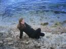 Зимнее Черное море возле ванны Афродиты