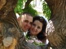 С любимым мужем в день свадьбы