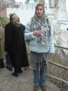 ноябрь 2004 года. так выглядела моя форма одежды в будущей Славяногорской Лавре) голова покрыта и брюки прикрыты)))