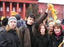Историки и психологи на митинге перед родным универом
