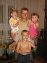 Мой отец с детишками )