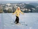 учимся кататься на лыжах!