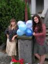 Я и Диана на свадьбе у друзей