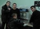 Я справа. Это гордость нашей кафедры - единственный в Украине электронный микроскоп подобного класса