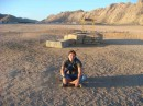 На фоне бедуинского колодца:)