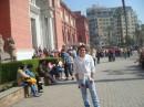 Сонный, уставший, но довольный - на фоне Каирского музея:)