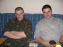 я с братом в Полтаве... мой первый увал в день присяги...