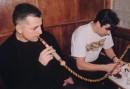 """...утро 1-го числа !!! ...дядя Вова + КОТ !!! ...""""малибу"""" + кальян !!! ...ну в общем, все как всегда !!! :)))) Одесса (1 января 2005г.)"""