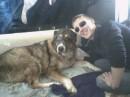 Я и любимая собачка Глашка
