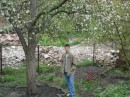 Под яблоней на даче))