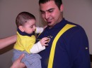here i am, anda my little nephew. He is like me, Fenerbahce's fan :D