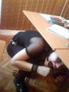 Катё пряталась от урока физики!))))