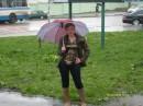 под дождем!!