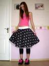 юбка, размер 44-46 ,на резинке,нижняя юбка с фатином (50гр)