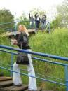 На фоне трех богатырей))