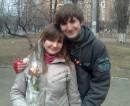 Мы с Никиткой.....как приятно получать цветы <3