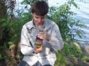 Я на днюхе друга...В руках у меня бутылка рома =) Было конешно весело)