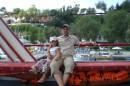 Порт Анталии, мы с Санькой на яхте