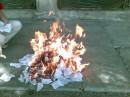 ритуальное сожжение)))