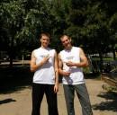 Я с Толиком из Алушты на ТД 08 в Харькове