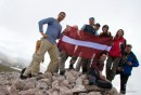 На Чатыр-Даге с флагом Латвии:)